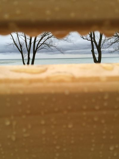 Read Between The Drops Moody Sky Lake Rain Drops On The Bench Raindrops By The Lake