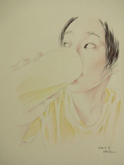 桃井早苗 Ballpoint Paint Colorpencils Esedy