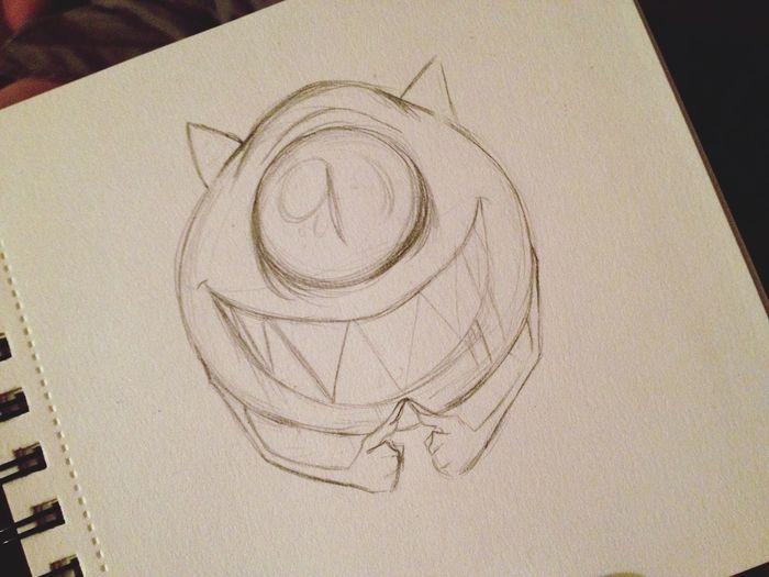 Art Creepy Doodle Cartoon Sketch Drawing Monster Fan Art Monsters INC Cute