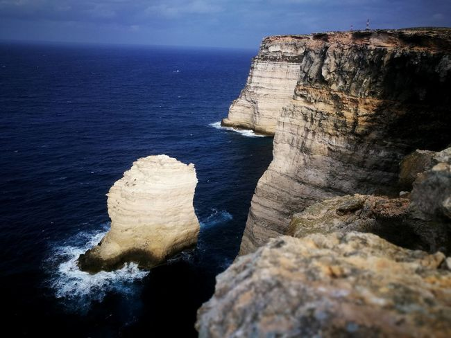 Rock Reef Lampedusa  EyeEm Selects Sea Beach Water Cliff Rock - Object Rock Formation Sky Horizon Over Water Eroded Wave