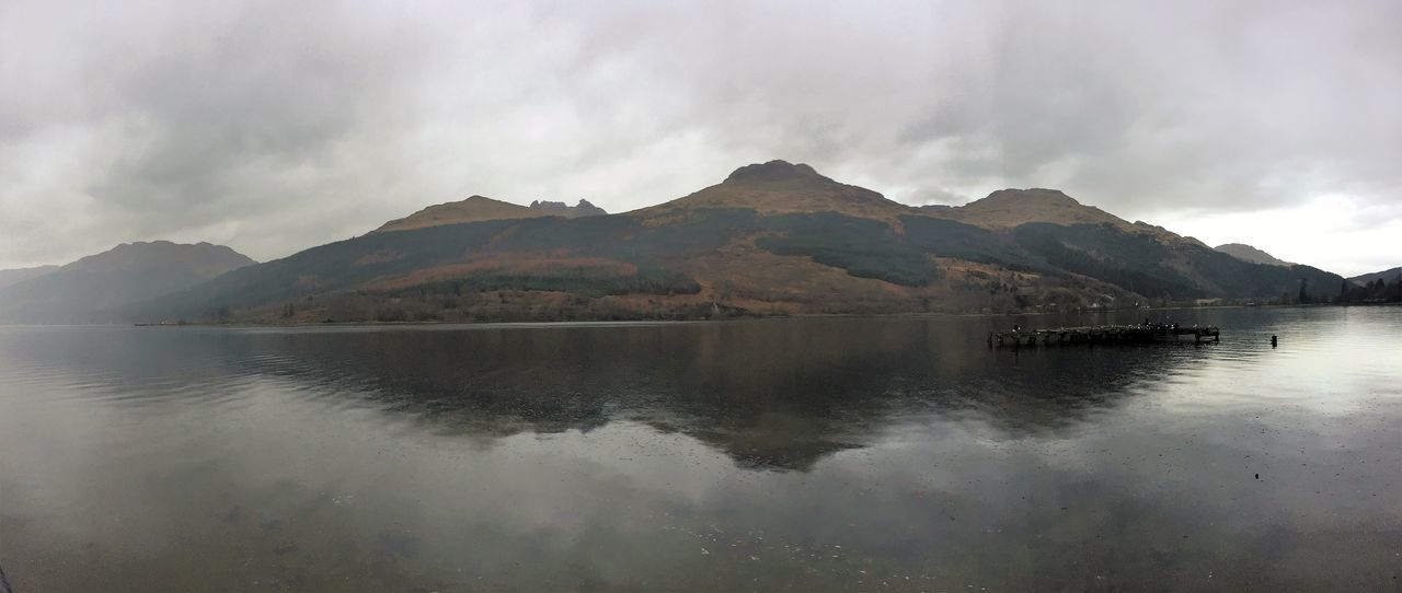 Beauty In Nature Beauty On My Doorstep Day Dull But Beautiful Growth Landscapes Loch  Mountain Range Nature Outdoors Reflection Trees VisitScotland Water Panoramic Non-urban Scene Scotland