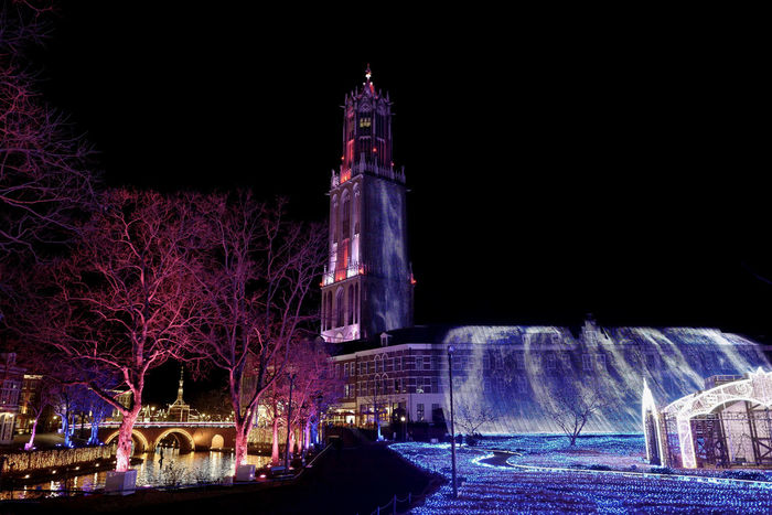 LEICA Q Typ116 Shot No.199 : Photos( MacBook Air ) edit plus de have a wonderful Weekend, EyeEm mate 28mm Clock Tower Famous Place Handheld Exposure Huis Ten Bosch Illuminated January 2017 Japan Scenery Led Lights  LEICA Q Typ116 Night Lights Nightphotography Open Aperture Outdoors Walking Around ハウステンボス