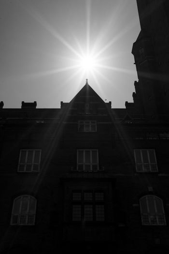 Apartment Architecture Building Building Exterior Built Structure City Clear Sky Copenhagen Day Lens Flare Low Angle View Nature No People Outdoors Place Of Worship Religion Sky Sun Sunbeam Sunlight Sunny Window