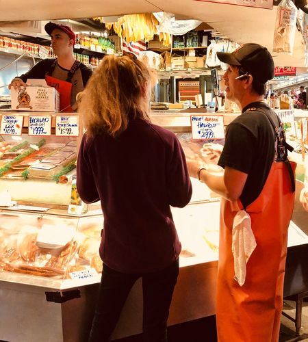 Fish.... it's all about fish at Pike Place Market, Seattle. 2018 EyeEm Streetphotgraphy Awards Streetphotography Three Quarter Length Group Of People Real People Women Adult Men People Business Retail