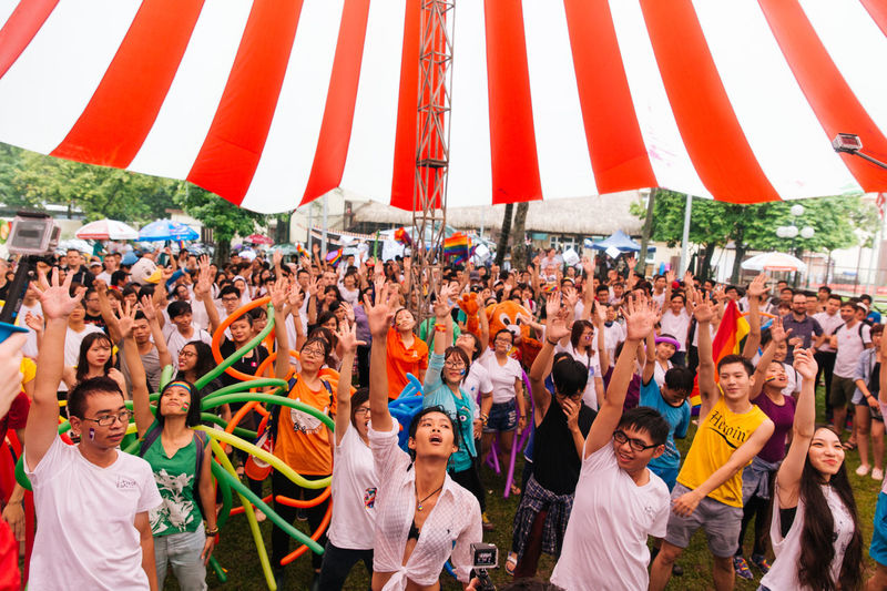 After a bike rally in the rain, the group of young LGBTIQ Vietnamese performed a flashmob at Viet Pride in Hanoi, Vietnam Flashmob Gaypride Hanoi Hanoi, Vietnam Lgbt Lgbt Pride Lgbtiq Lgbtq Photojournalism Pride Prideparade Queer Togetherness Viet Pride Vietnam Vietnamese VietPride Youth Of Today EyeEm Diversity Resist Place Of Heart This Is Queer Focus On The Story The Troublemakers Love Is Love