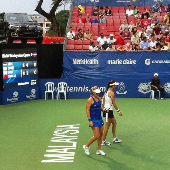 Had a blast watching some ladies at the Bmwmalaysianopen Bmwmo2014 Iamalexchan Kualalumpur malaysia rsgc royalselangorgolfclub tennis
