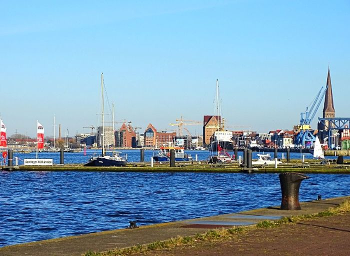 Water Outdoors Sky Architecture Cityscape Harbor City Rostocker Hafen Rostock Close-up Zoom Camera Commercial Dock Nautical Vessel Day River Warnow City_collection Good Weather Building Exterior Photography Scenics Landing Stage City On The Sea No People
