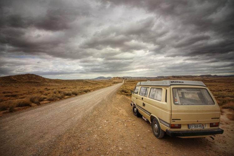 Adventure Desert Rural Scene Arid Climate Car Storm Cloud Sky Landscape Cloud - Sky Travel