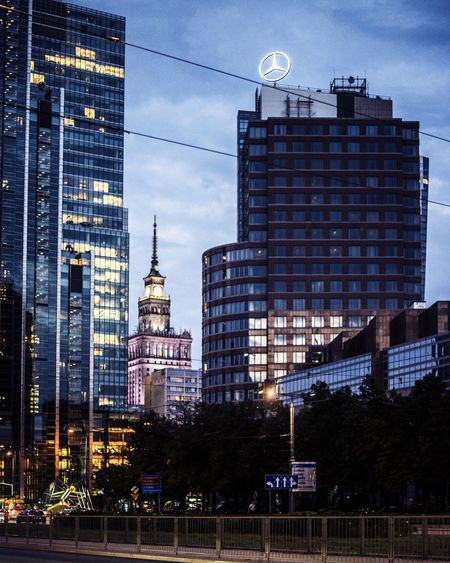palace of culture and sience Night Lights Art Warszawa  Warsaw Budynki Construction Buildings Modern Architecture Building Exterior Built Structure Office Building Tower EyeEmNewHere My Best Travel Photo