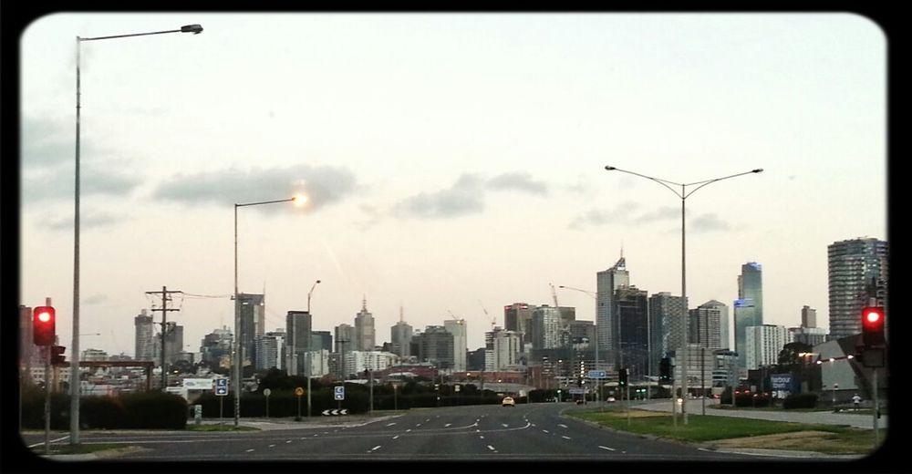 Melbourne city skyline from the west Skyline Melbourne