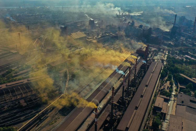 Factories smoke harmful chemicals