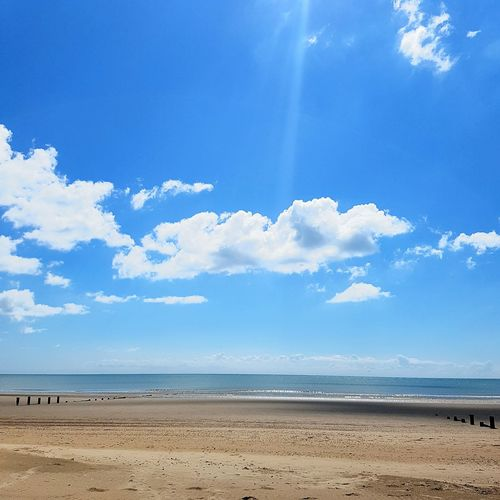 Beach in Kent on a sunny day Sky Tide Chanel Isolation Summer Kent Shepway Dymchurch Beach Dymchurch Heat Life Living Vacation Leisure Time England Nature Great Outdoors Outdoors Landscape #Nature #photography