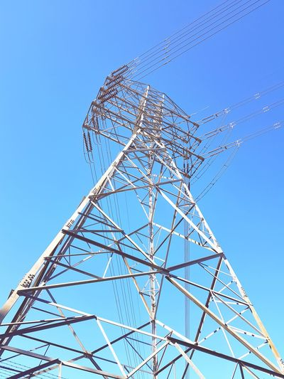 Electricity  No People Blue Technology Outdoors Close-up Electricity Pylon Electricity Tower