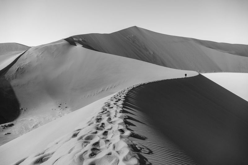 Big Daddy Dune Sand Path Sand Dune Sossusvlei Desert Sossusvlei Desert - Namibia Sossusvlei EyeEmNewHere Big Daddy Dune Nature Tranquility Tranquil Scene Scenics Outdoors Landscape Beauty In Nature Clear Sky Sand Dune Travel Destinations Mountain