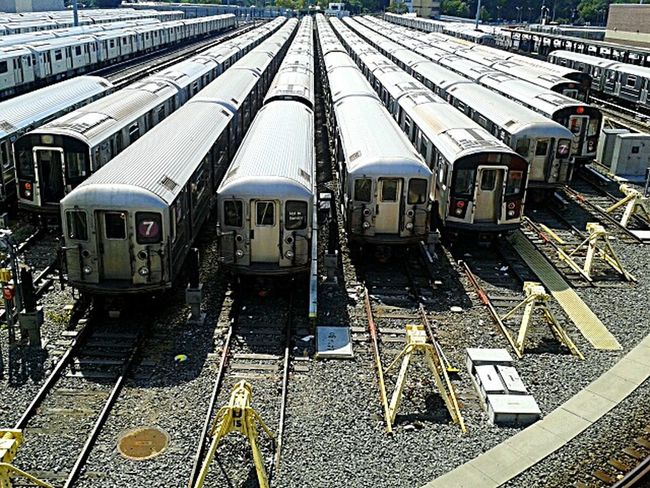 A Bird's Eye View trainYard:end of the line.photo by Shell Sheddy Two Is Better Than One Sheshephoto Shellsheddyphotography Street Photography Train Tracks Train Yard Battle Of The Cities Nyc Photo
