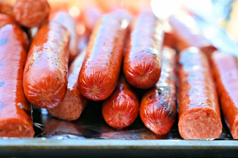 Meat Hotdogs Tray Retail Display Seafood Large Group Of Objects Fish Day Market Focus On Foreground Ready-to-eat For Sale Retail  Fruit Selective Focus No People Indoors  Close-up Still Life Wellbeing Freshness Healthy Eating Food Food And Drink