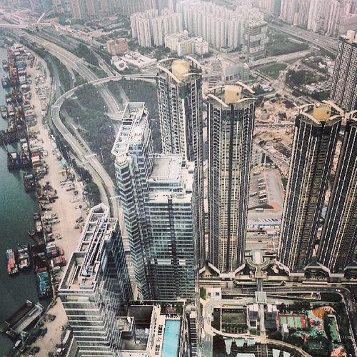 Высота 400м  высота  высоко  Гонконг Sky100 Honkong