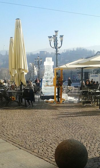 Ice Sculpture Turin❤️ Day Piazza Vittorio Veneto First Eyeem Photo