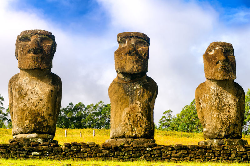 Mysterious statues in chile