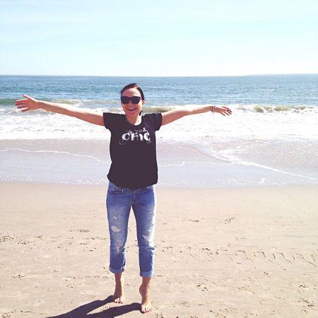 April Beach Happiness Ocean Atlantic Ocean Coney Island Coneyislandbeach Coney Island / Brooklyn NY Smile ✌
