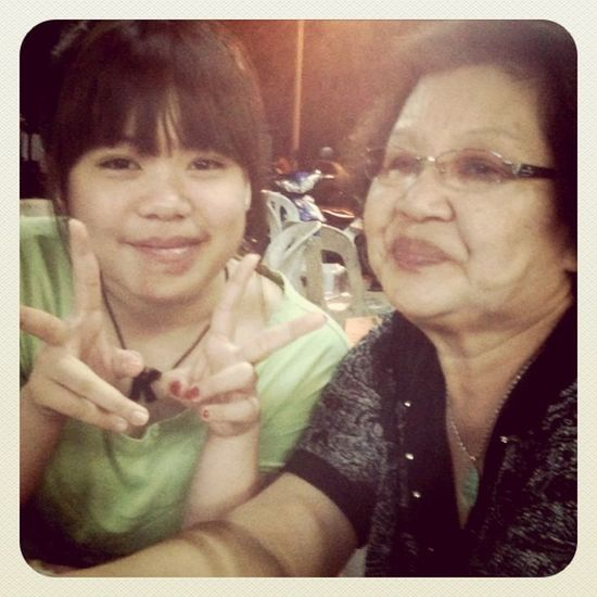 Picture with popo Grandmum Miss Goodbye Caramlee