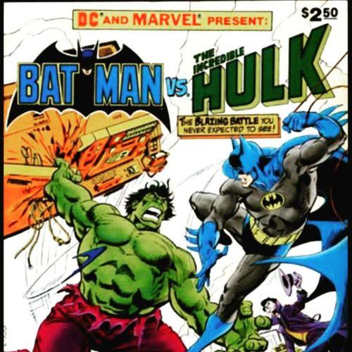 Too bad Instagram makes you crop pics. EyeEm doesn't. Instacomic Instabatman Batman Hulk Instahulk Comicbook Comics