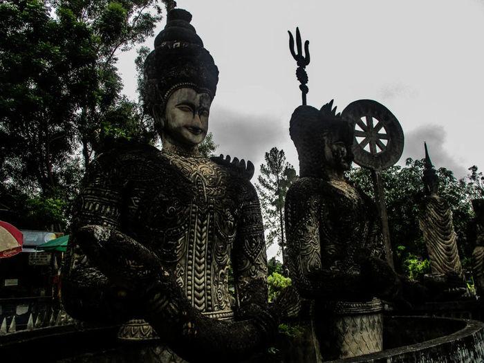 Sa La Kaeo Ku in Nong Khai,Thailand. Day Sky Photography Themes Backgrounds Picture Frame Photographing Photoart Beauty In Nature Photograph City Cloud - Sky Travel Destinations Sculpture Statue Nature Thailand🇹🇭