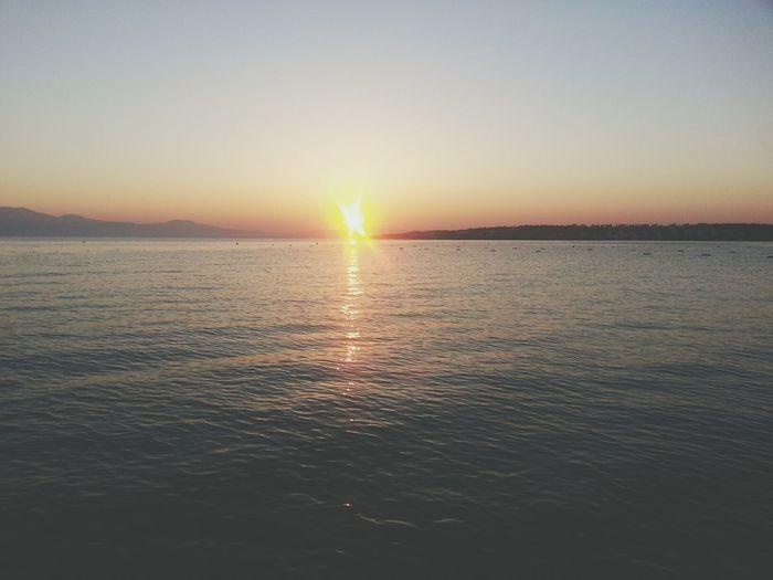 Morning Sunrise Beach Izmir Cesme