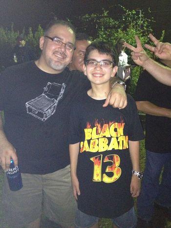 Aizik and his dad, Mark!