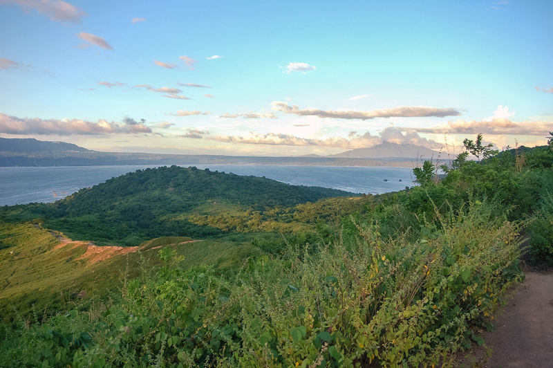 View of the Taal Lake fromthe top of the Taal volcano in The Philippines. Beauty In Nature Day Grass La Landscape Nature No People Outdoors Philippines Scenics Taal Volcano