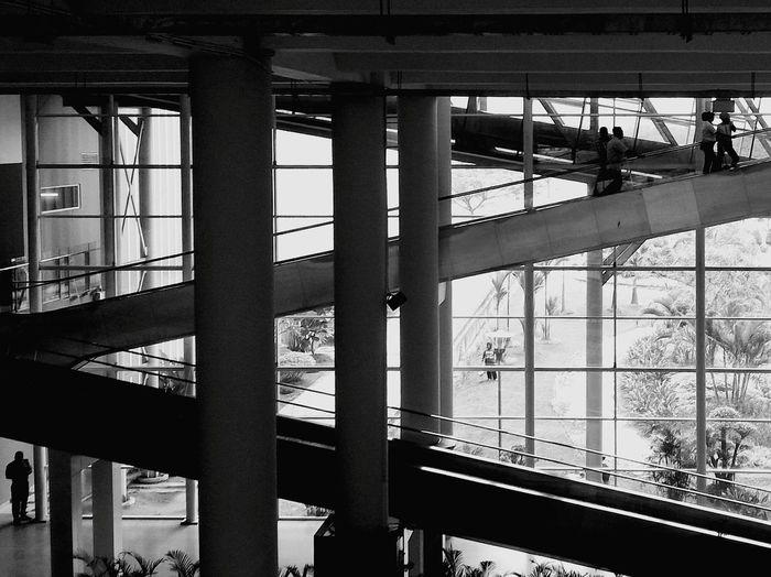 The escalator The Architect - 2016 EyeEm Awards Medan Airport Kuala Namu International Airport INDONESIA Bw Black And White Photography