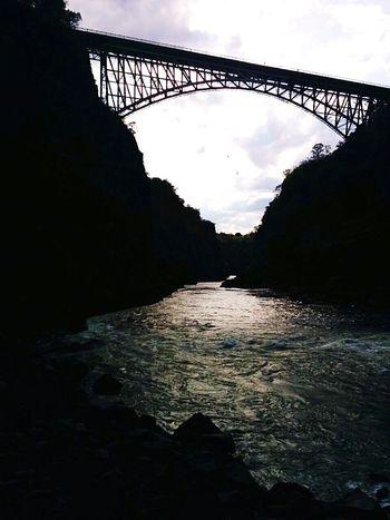Evenings Bridge Sillouette Water Victoriafalls Bungeejump Zambia Wild Adrenaline