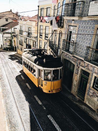 Lisboa Transportation Train - Vehicle Lisbon Lisboa Portugal Lisboa Lisbonlovers Tram Yellow Yellow Tram Europe City City Street City Life Portugal Neighborhood Map Paint The Town Yellow Mobility In Mega Cities Colour Your Horizn