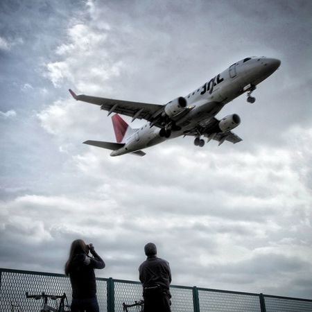 千里川土手 Airplane HDR Hdr_Collection