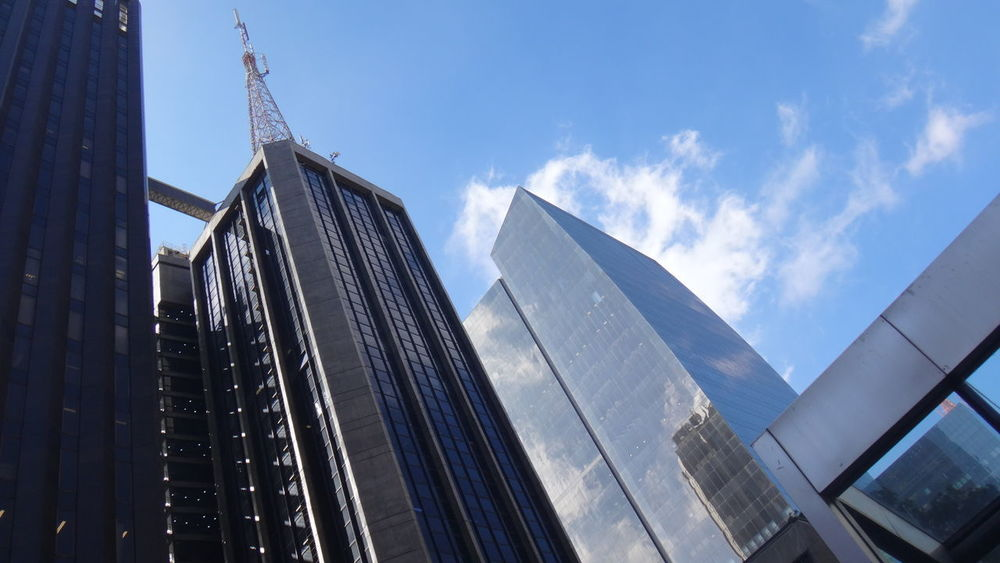 SAO PAULO BRAZIL Architecture Building Exterior Built Structure City Day Google Growth Low Angle View Modern No People Outdoors Sky Skyscraper