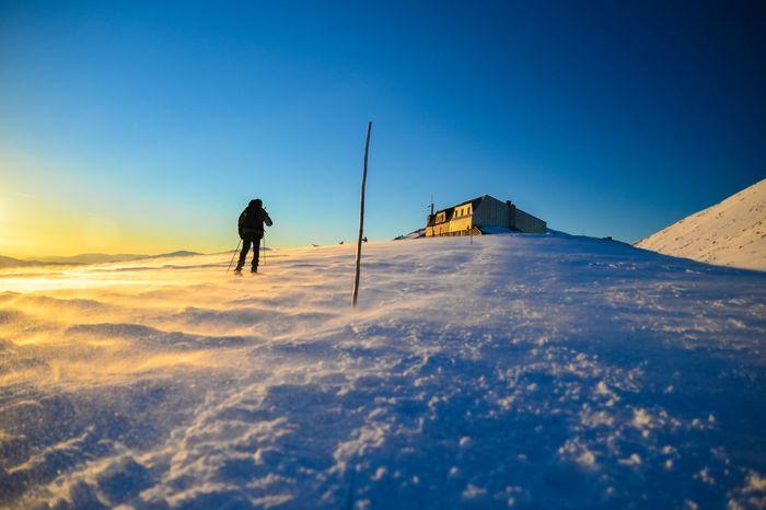 Golden dust Hiking Mountains Winter Slovakia Europe Nikon Nikon D5100  Sunset