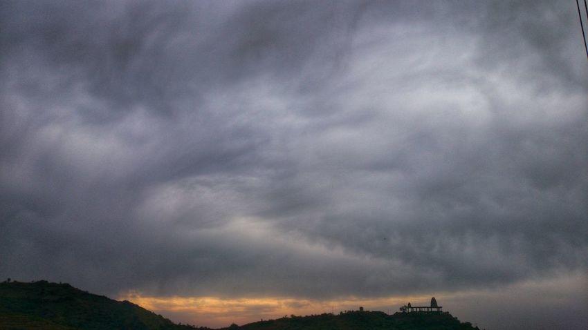 Temple Morning Sky Burning Sky Katra Jammu And Kashmir Landscape Different Colors First Eyeem Photo