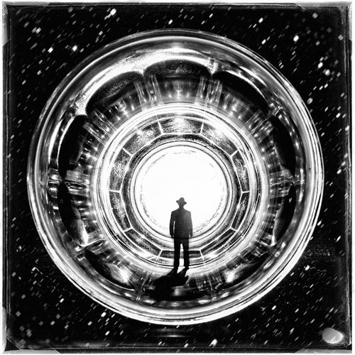 White Hole Composition Blackandwhite Black And White Photoshop Creative ArtWork