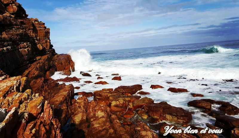 South Africa Yvonbien Trip View Voyage Mer Blue Sky Vacations Life Sea Rock - Object Beach Nature Horizon Over Water Beauty In Nature Water No People Travel Destinations Cloud - Sky Scenics Outdoors Landscape Blue Day Wave Sky