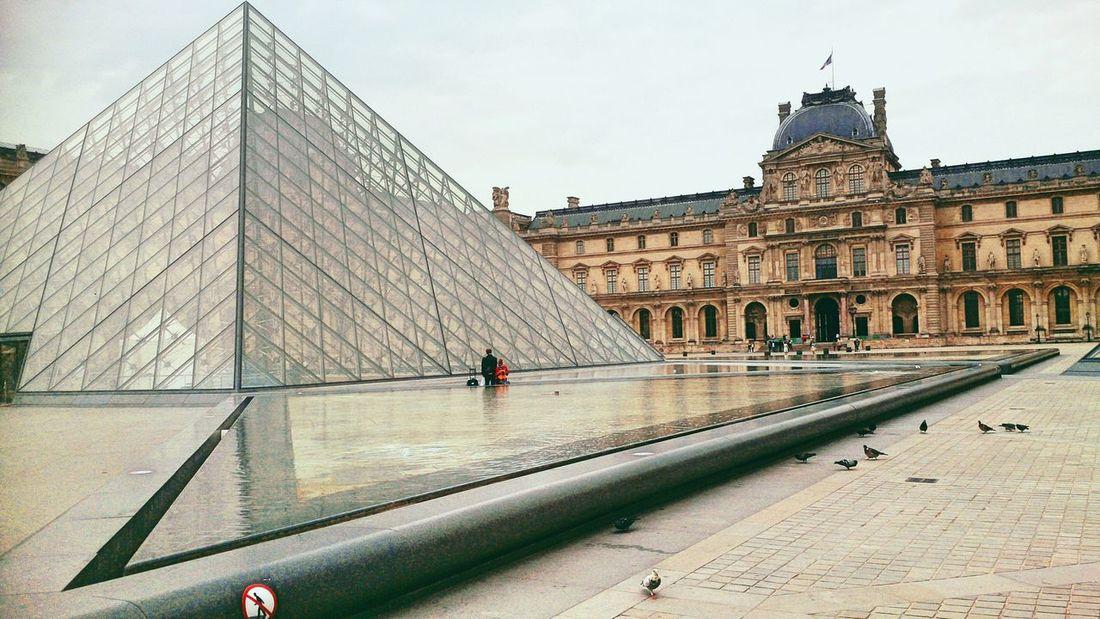Paris, France  Louvre Museum Architecture