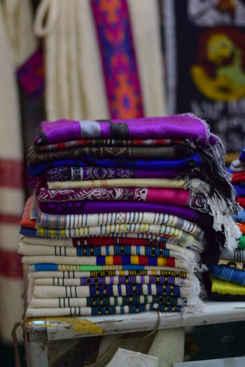 Ethiopian shawls Abundance Art And Craft Business Choice Close-up Day Focus On Foreground For Sale Indoors  Large Group Of Objects Market Market Stall Multi Colored No People Personal Accessory Retail  Retail Display Sale Small Business Stack Still Life Store Variation The Traveler - 2018 EyeEm Awards