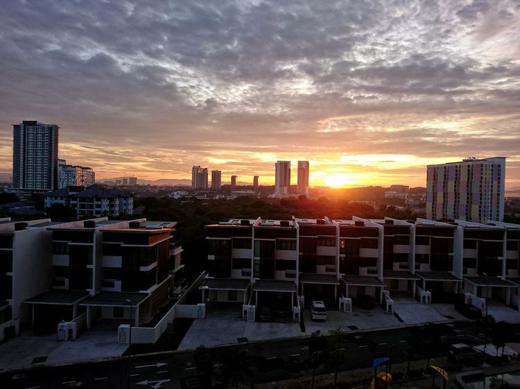 Optimism. Sunrise Early Riser New Home High Angle View Cityscape City Life No People