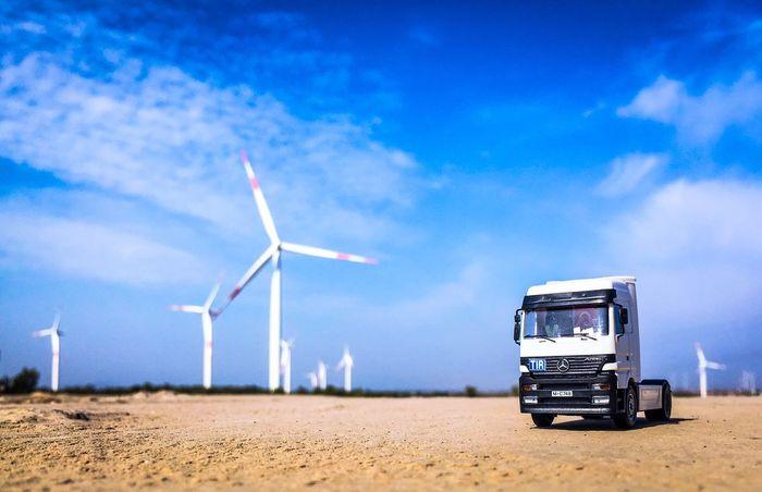 Modelcar Truck Wiev Windrose Natural