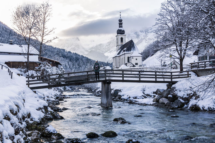 Bavaria Winter Architecture Bayern Beauty In Nature Belief Building Building Exterior Built Structure Cold Temperature Covering Germany Landscape Nature No People Outdoors Place Of Worship Plant Religion Snow Snowcapped Mountain Spirituality Tree White Color Winter