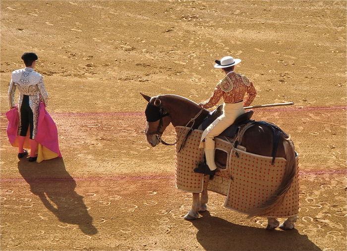Men in bullring