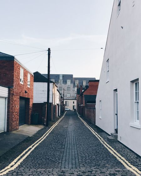 Alley Alleyway Architecture Building Exterior Built Structure Cable Charming Street Cobblestone Cobblestone Streets Day Leading No People Outdoors Oxford Rail Transportation Railroad Track Sky Small Street The Architect - 2017 EyeEm Awards The Way Forward Transportation