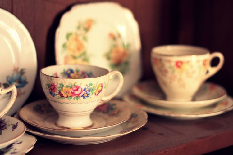 Close-up of tea cup