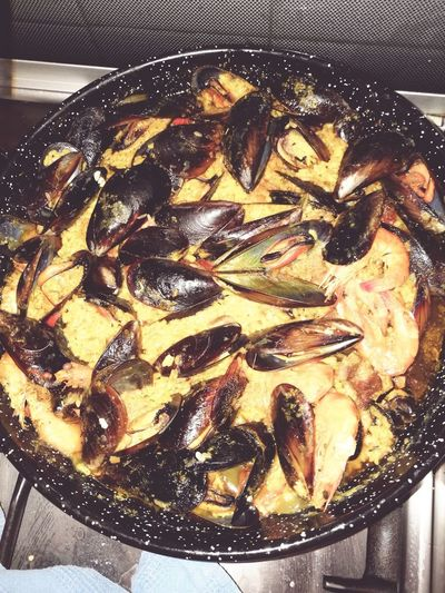 Paella 🥘 Food Preparation  Ready-to-eat Close-up ComidaEspañola 😍❤️