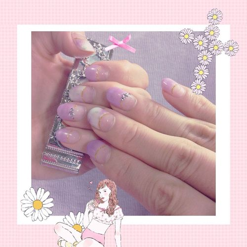 Newnails Pink Nails Nail Flower Strowberry ネイル ピンク 花柄 横浜