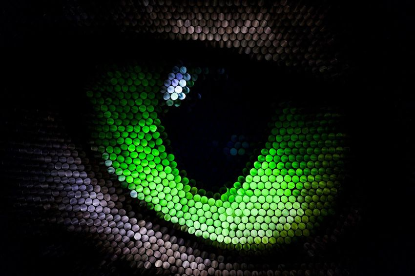 Green Color Black Color No People Pattern Abstract Circles Eye Strawcamera Straws Textured  Multi Colored Pixelated Illuminated Cat Eye Cat